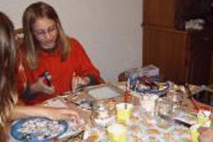 Mozaïek feestje bij Dinrof mozaïek