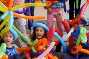 Clown en goochelaar kinderfeestje met Blown & Twisted